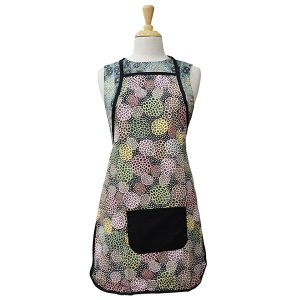 Aboriginal-Bib-Apron-Dancing-Flowers-Black.jpg